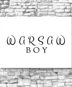 Plakat napis Warsaw Boy