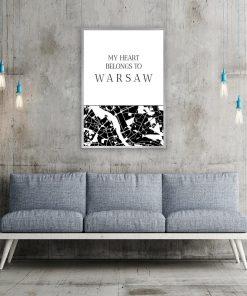 Plakat My heart belongs to Warsaw