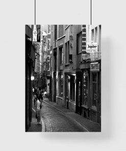 Plakat miejska uliczka