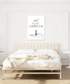 Plakat All I need is lipstick