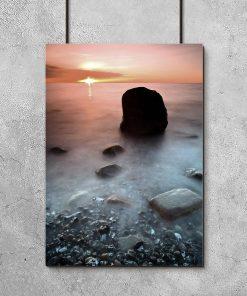 Plakat zachód słońca nad morzem