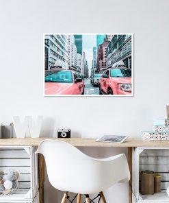 Plakat taksówki w Nowym Jorku