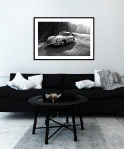 Plakat z motywem samochodu vintage