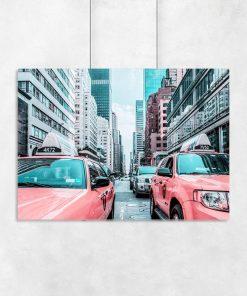 Plakat nowojorskie wieżowce