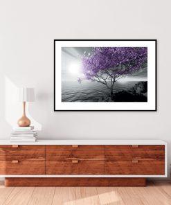 plakat z drzewem do salonu
