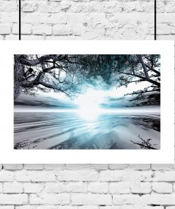 księżyc i drzewo jako plakat