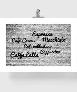 kawa jako dekoracja czarno-biała
