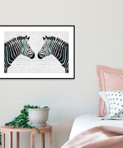 plakat z zebrami
