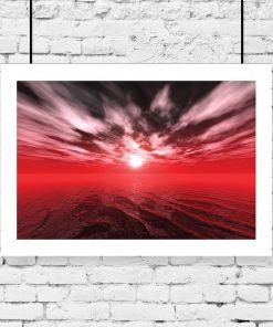 czerwony zachód słońca