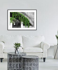 czarno-biała dekoracja