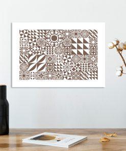 plakat z geometryczną abstrakcją