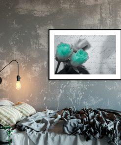 turkusowy kwiat jajko dekoracja