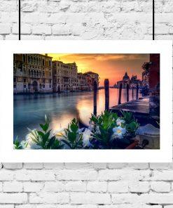 kolorowa dekoracja z Wenecją