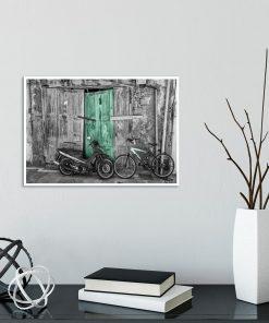 rower na plakacie
