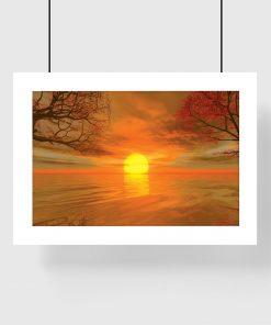 słoneczna dekoracja z pomarańczą