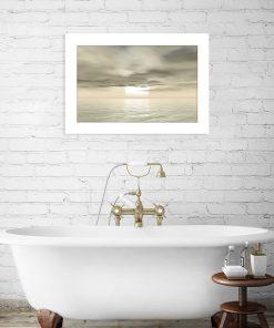 beżowa dekoracja z wodą i słońcem