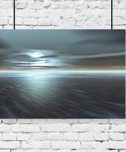 księżyc i morze jako plakat