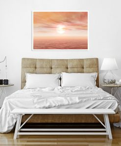 plakat nad łóżko w morelowym odcieniu