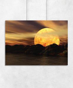 plakat klimatyczny z księżycem