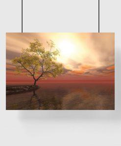 motyw drzewa nad wodą