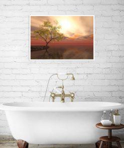 dekoracja z motywem łazienki