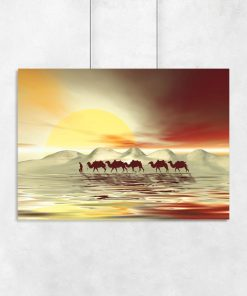 dekoracja z wielbłądami