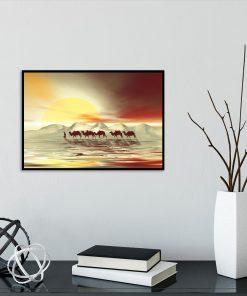 pustynny plakat z wielbłądami