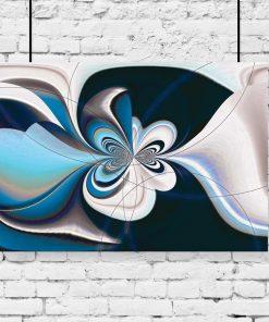motyw abstrakcji niebieskiej