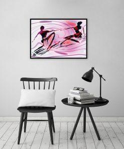 dekoracja z różową kolorystyką
