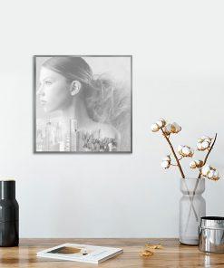 biało-czarny plakat jako dekoracja