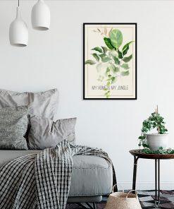 plakat i tropikalny napis