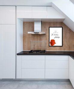plakat kuchenny jako dekoracja