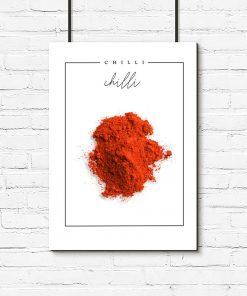 kuchnia z plakatem z chilli