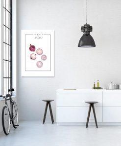 jasna dekoracja z cebulą