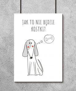 pies na plakacie