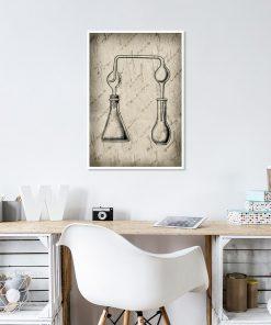 plakat z motywem chemicznych narzędzi