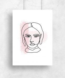 plakat z kobiecą twarzą