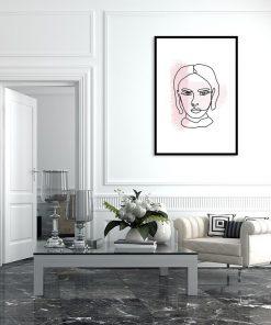 plakat z wizerunkiem kobiety