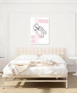 plakat do sypialni z zarysem kobiecego ciała