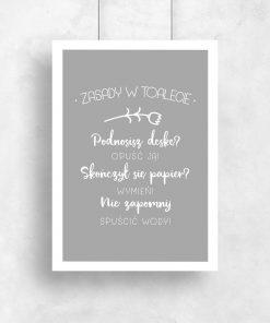 plakat łazienkowy z napisami
