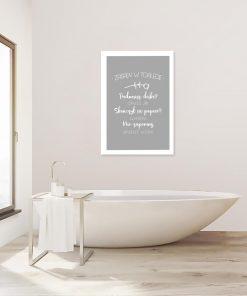 plakat z wypisanymi regułami zachowania w toalecie