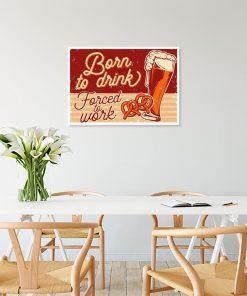 plakat w starym stylu z piwem i napisem