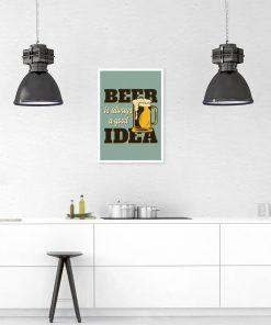 plakat retro z ilustracją kufla piwa