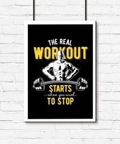 plakat z napisem o treningu