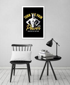plakat na siłownie z napisem motywacyjny,