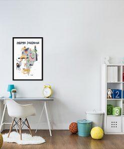 plakat dla dziecka z mapą Ameryki Południowej