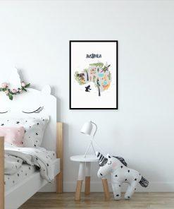 plakat do pokoju dziecka z motywem zwierząt