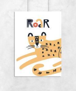 plakat dla dziecka z napisem Roar