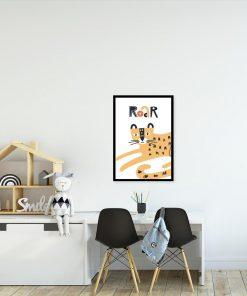 plakat przedstawiający tygrysa do pokoju dziecka