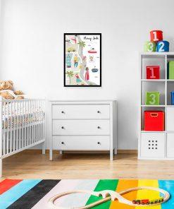 plakat do pokoju dziecka z Nowym Jorkiem
